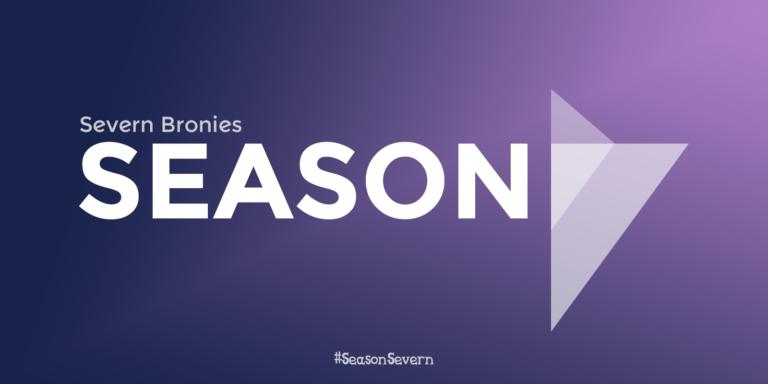 """Season 7"" written in Twilight Sparkle's colour scheme."