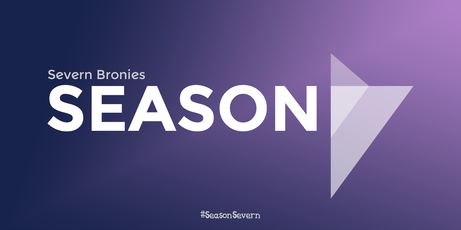 """Season 7"" written in Twilight Sparkle's colour scheme."
